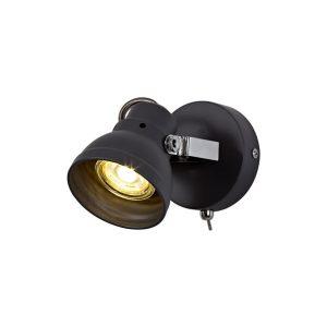 Lichfield Lighting Tanyard Adjustable Switched Spotlight, 1 x GU10 (Max 10W LED), Matt Grey/Polished Chrome photo 1
