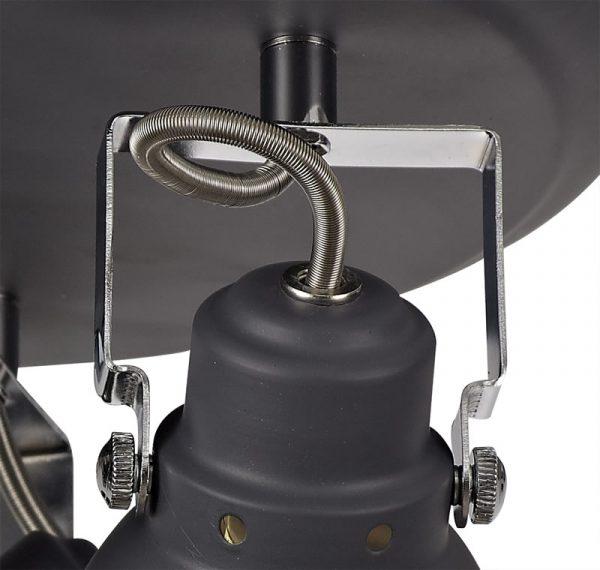 Lichfield Lighting Tanyard Adjustable Round Spotlight, 3 x GU10 (Max 10W LED), Matt Grey/Polished Chrome photo 3