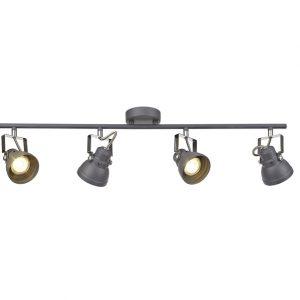 Lichfield Lighting Tanyard Adjustable Linear Bar Spotlight, 4 x GU10 (Max 10W LED), Matt Grey/Polished Chrome photo 1