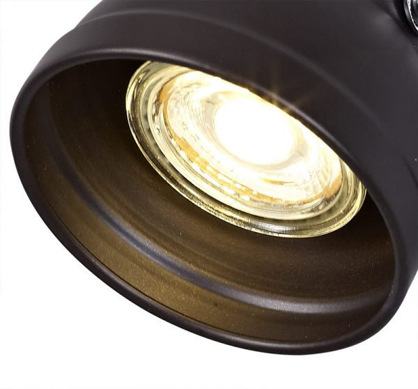 Lichfield Lighting Tanyard Adjustable Switched Spotlight, 1 x GU10 (Max 10W LED), Oiled Bronze/Polished Chrome photo 2