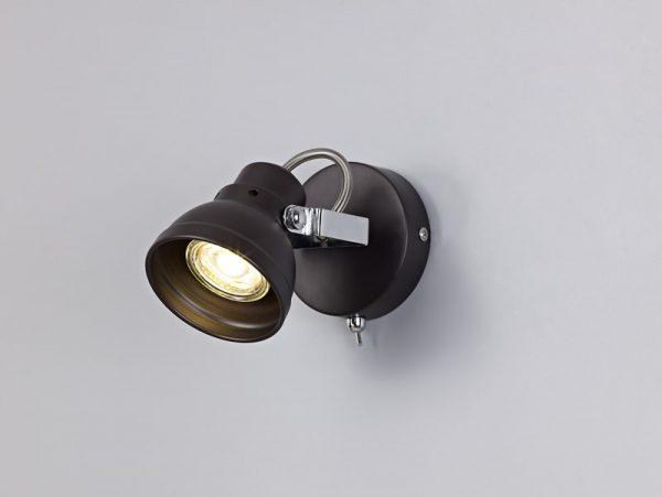 Lichfield Lighting Tanyard Adjustable Switched Spotlight, 1 x GU10 (Max 10W LED), Oiled Bronze/Polished Chrome photo 4