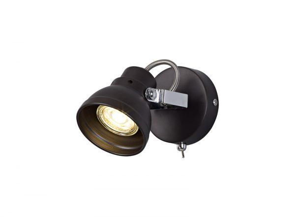 Lichfield Lighting Tanyard Adjustable Switched Spotlight, 1 x GU10 (Max 10W LED), Oiled Bronze/Polished Chrome photo 1