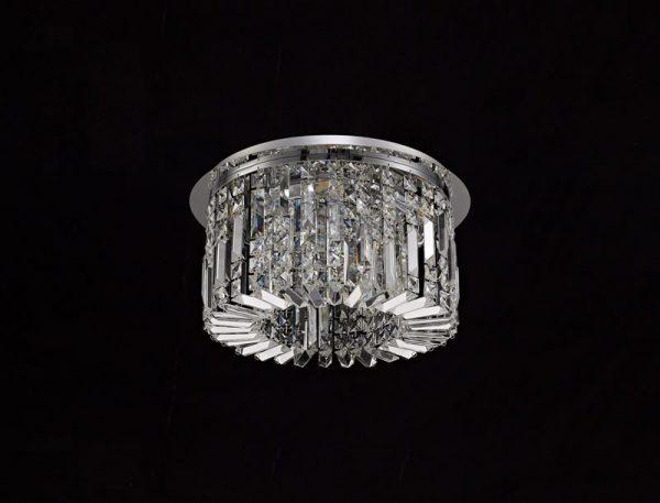 Lichfield Lighting Wharf 45cm Round Flush Chandelier, 5 Light E14, Polished Chrome/Crystal photo 3